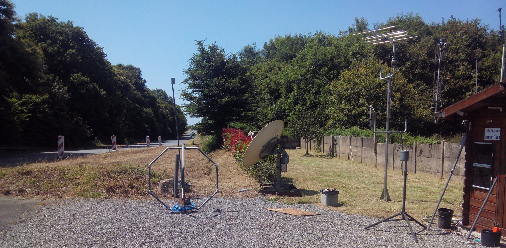 F5VLB – Earth probes used as antenna